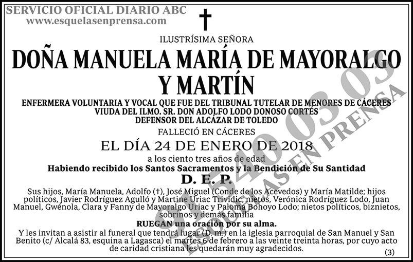 Manuela María de Mayoralgo y Martín